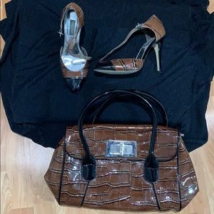 White House Black Market shoes size 7 and purse .